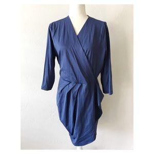 ASOS Curve Blue faux wrap dress